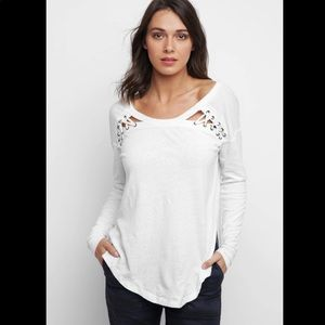 Free People First Love Lace Up Tee